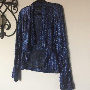 Gaby & Eden Sequin Party Jacket SzL Royal Blue